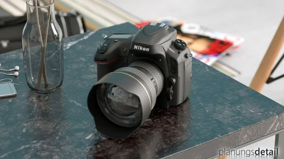 Produktvisualisierung: Fotokamera