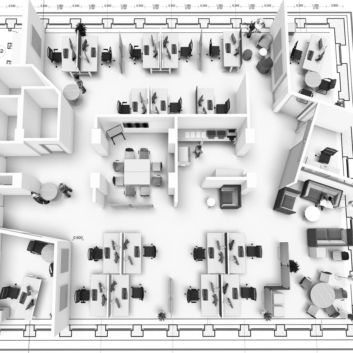 Büroplanung Planungsdetail
